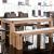 LEEDS Tömör Fehéritett Tölgy Étkezőasztal 260x100cm